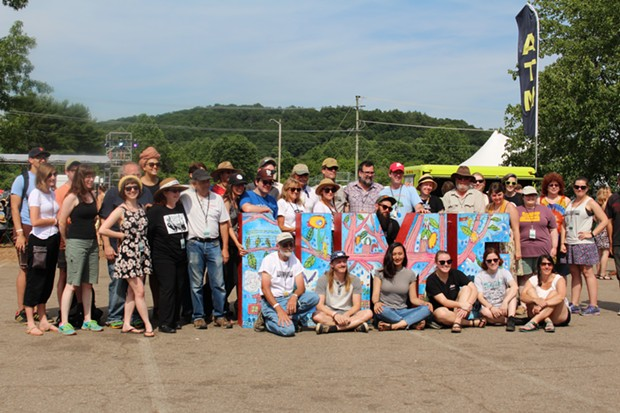 Staff and organizers at Nelsonville Music Festival