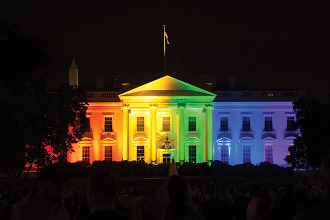 Last year the White House was a little more festive during Pride Month.
