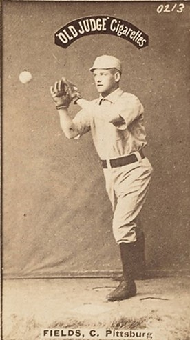 Jocko Fields (featured in a late-1887 baseball card from Old Judge Cigarettes) - PHOTO IN THE PUBLIC DOMAIN
