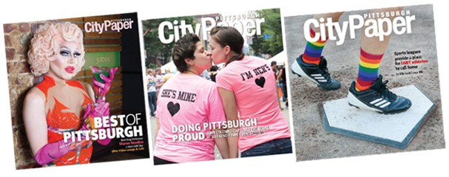 A few of John Colombo's LGBTQ covers for Pittsburgh City Paper