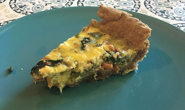Tasty, sad quiche - PHOTO COURTESY OF KELLY ANDREWS