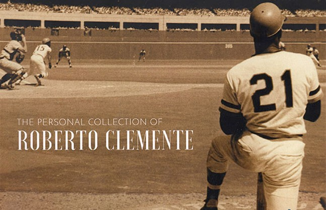 Cover art from the Hunt Auctions' Roberto Clemente auction book