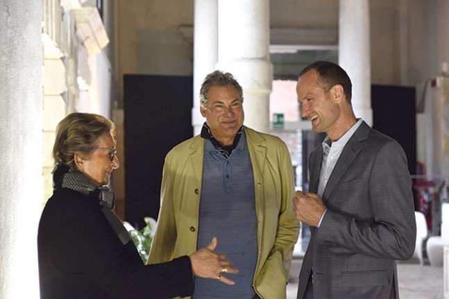 Steve Mendelson (center) with Helene de Franchis and Emil Lukas in Venice earlier this year - PHOTO COURTESY OF STEVE MENDELSON