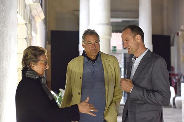 Steve Mendelson (center) with Helene de Franchis and Emil Lukas in Venice earlier this year - PHOTO COURTESY OF STEVE MENDELSON