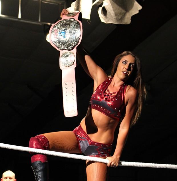 Britt Baker wins the IWC Women's championship - CP PHOTOS BY MEG FAIR