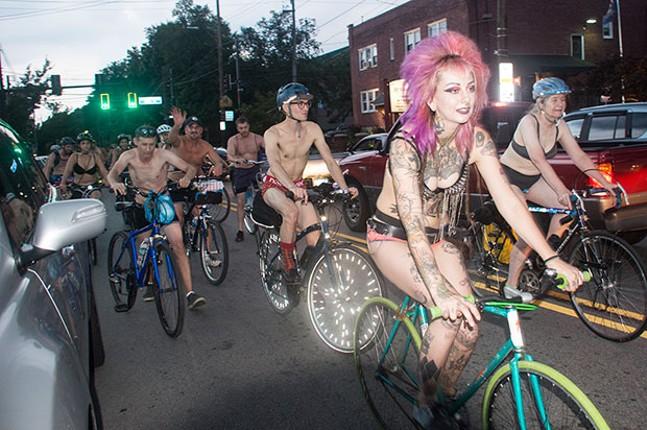 Underwear Bike Ride - CP PHOTO BY JORDAN MILLER