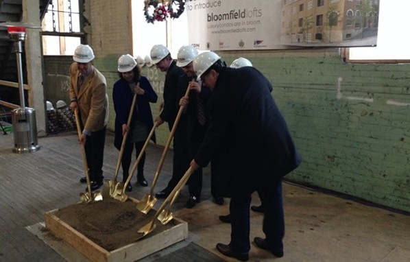 December 2016 groundbreaking of new loft-style condos in Bloomfield - CP PHOTO BY RYAN DETO