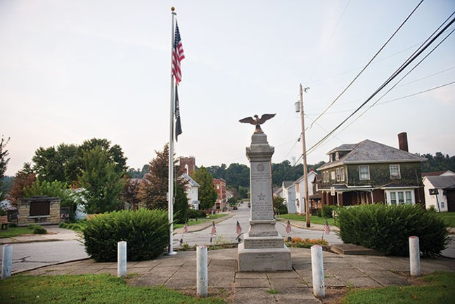 A Revolutionary War and Civil War monument in Downtown California, Pa. - CP PHOTO BY CAROLINE MOORE