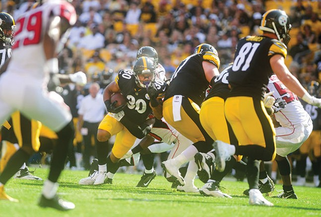 James Conner at play during the Aug. 20 preseason game at Heinz Field - CP PHOTO BY VINCENT PUGLIESE