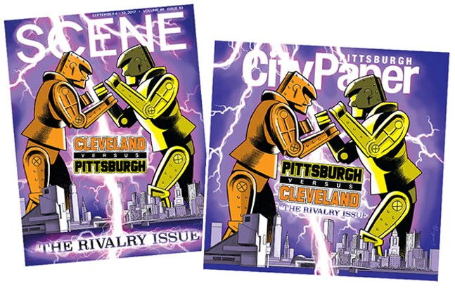 This week's Cleveland Scene and Pittsburgh City Paper covers - COVER ILLUSTRATIONS BY PITTSBURGH ARTIST JIM RUGG