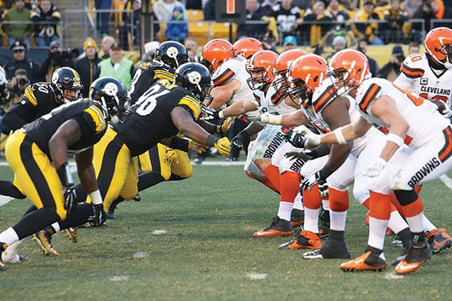 The Pittsburgh Steelers faced off against the Cleveland Browns on Jan. 1, 2017. (The Steelers won that game 27-24.) - CP PHOTO BY LUKE THOR TRAVIS