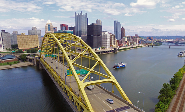 Downtown Pittsburgh - CP PHOTO BY JAKE MYSLIWCZYK