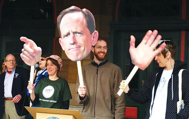 Pittsburgh Tuesdays With Toomey protesters in February - CP PHOTO BY REBECCA ADDISON