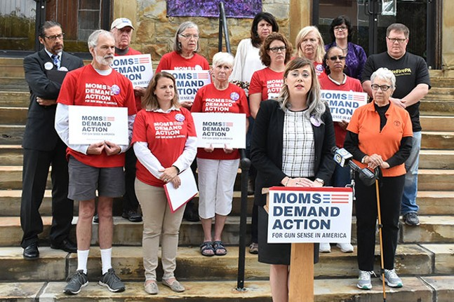 Jenna Paulat, volunteer with the Pennsylvania chapter of Moms Demand Action for Gun Sense in America - CP PHOTO BY JAKE MYSLIWCZYK
