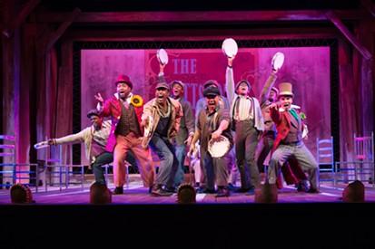"The cast of ""The Scottsboro Boys"" at The REP - PHOTO COURTESY OF JOHN ALTDORFER"