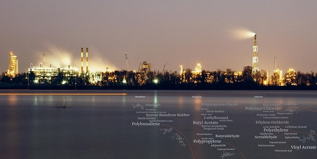 """A graphic from """"Petrochemical America"""""""
