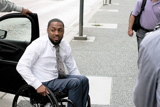 Leon Ford arrives for his civil trial on Sept. 26, against the officer who shot him during a traffic stop in 2012. - CP PHOTO BY CHARLIE DEITCH