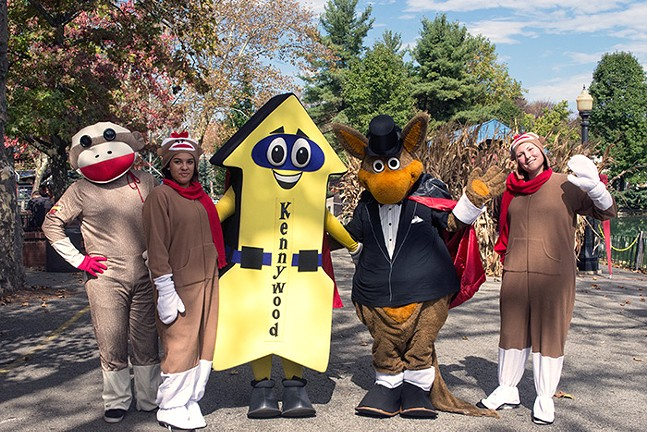Costumed characters greet guests at Kennywood's Happy Hauntings on Sat., Oct. 7 - CP PHOTOS BY JAKE MYSLIWCZYK