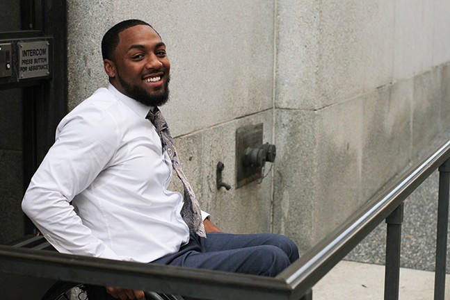 Leon Ford arrives for his civil trial on Sept. 26. - CP PHOTO BY CHARLIE DEITCH