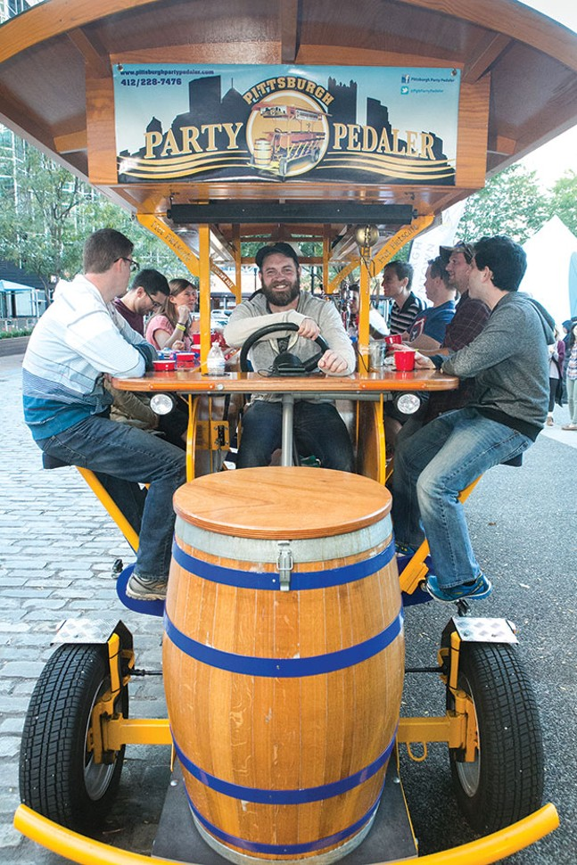 Pittsburgh Party Pedaler, winner of Best Beer-Related Tour - CP PHOTO BY JOHN COLOMBO