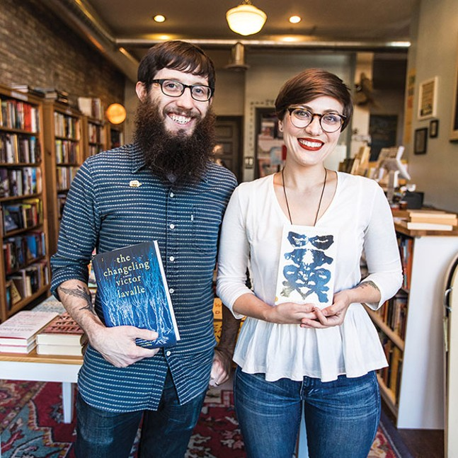 Nine Stories (co-owners John Shortino and Allison Mosher), winner of Best Local Bookstore - CP PHOTO BY XAVIER THOMAS, WINNER OF BEST LOCAL PHOTOGRAPHER