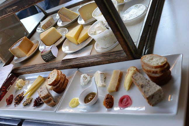 Composed cheese plates at Caselulla - PHOTO COURTESY OF BRIAN KEYSER