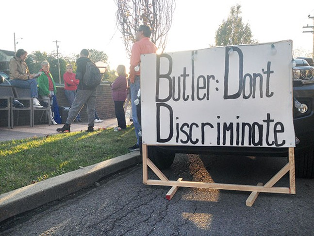 Pro-LGBTQ protest in Butler on Oct. 17 - CP PHOTO BY RYAN DETO