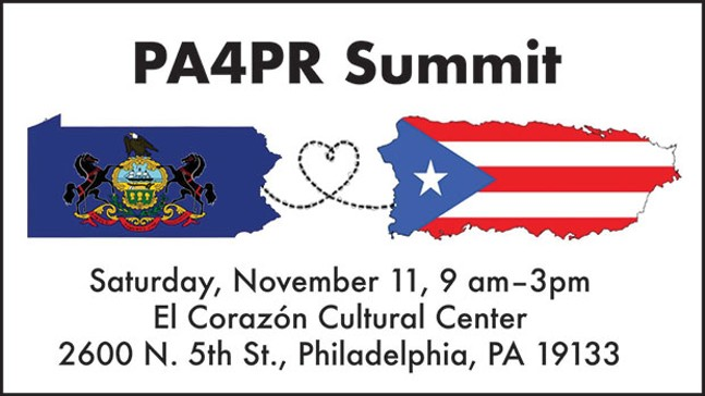 Flier for PA4PR summit, which seeks to energize Puerto Rican voters in Philadelphia on Nov. 11 - IMAGE COURTESY OF MARIA QUINOÑES-SÁNCHEZ