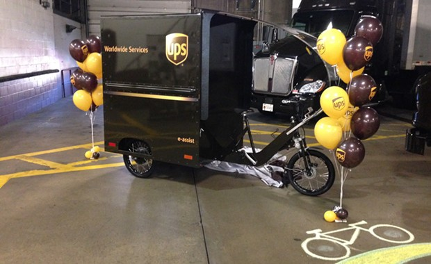 UPS's electric-assist bike-cart - CP PHOTO BY RYAN DETO