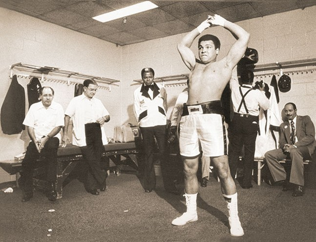 Muhammad Ali in the locker room later in his career - PHOTO COURTESY OF MICHAEL GAFFNEY