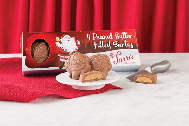 4-piece Peanut Butter Santas