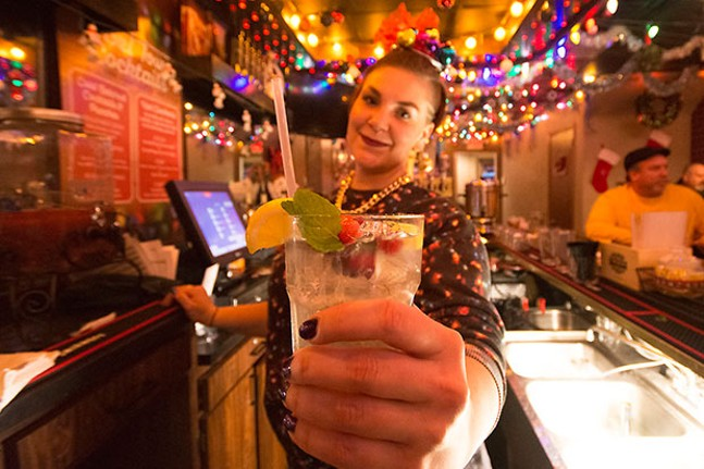 Behind the bar at Tinseltown - CP PHOTO BY JAKE MYSLIWCZYK