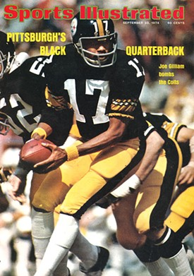 Pittsburgh's Joe Gilliam made news when he became the first black QB to start an NFL game - PHOTO COURTESY OF SI.COM
