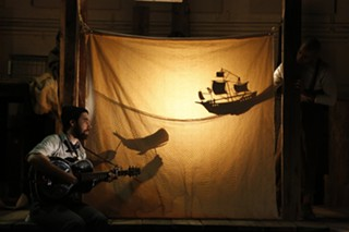 "Shadow puppetry in ""The Old Man and the Old Moon"" - PHOTO COURTESY OF JOAN MARCUS"
