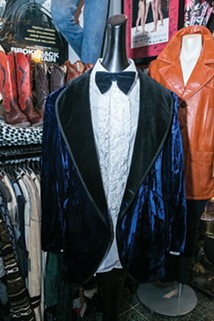 A blue tuxedo jacket is both fashionable and fun - CP PHOTO BY JOHN COLOMBO