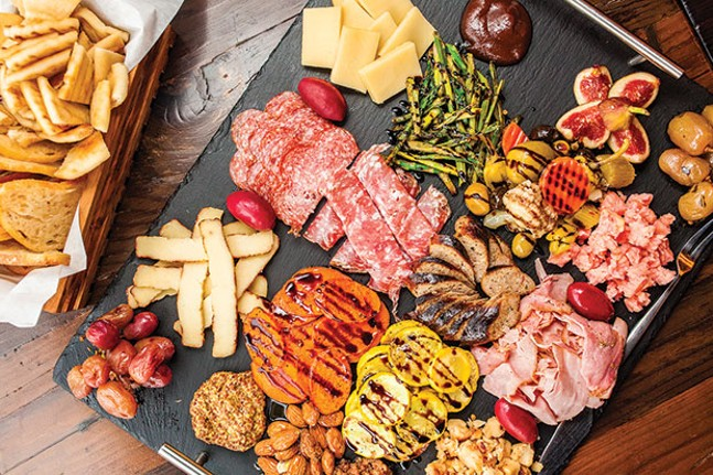 Chef's antipasto tray, with assorted meats and cheeses - CP PHOTO BY VANESSA SONG