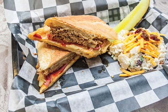 Cuban sandwich, with a side of loaded potato salad - CP PHOTO BY VANESSA SONG