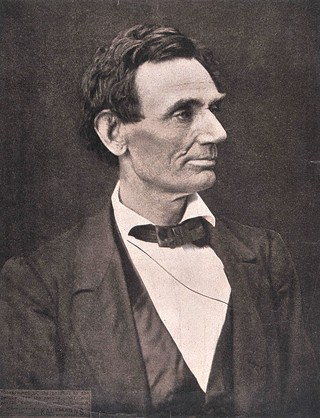 Copy of an 1860 photo of Abraham Lincoln, original by Alexander Hesler