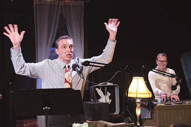 Tony Bingham and Tami Dixon in Midnight Radio: A Christmas Story, at Bricolage Production Co. - PHOTO COURTESY OF HANDERSON GOMES