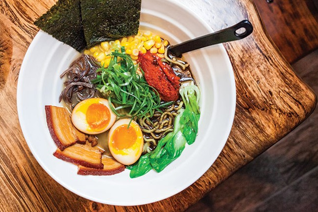 Yuzu Bomb Ramen, with marinated pork belly and 30-minute egg - CP PHOTO BY VANESSA SONG
