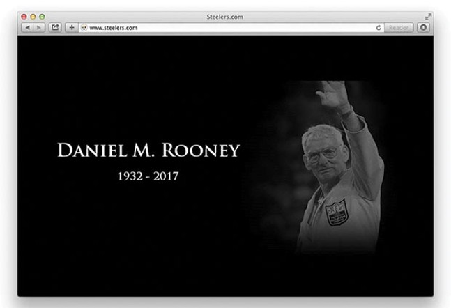 The Steelers online tribute to Dan Rooney after his passing