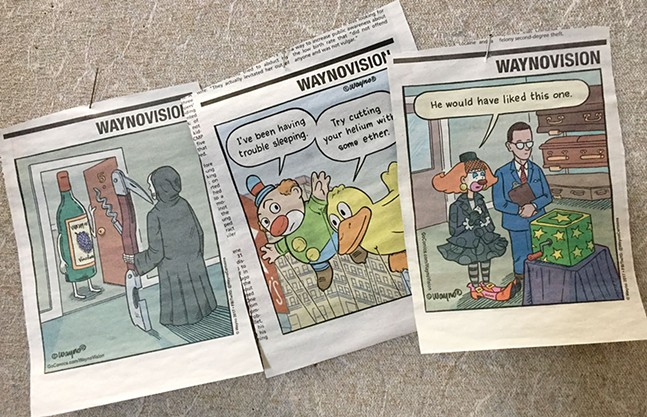 Recent WaynoVision cartoons in Pittsburgh City Paper