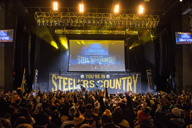 Pittsburgh Steelers playoff pep rally at Stage AE on Sat., Jan. 13 - CP PHOTOS BY JAKE MYSLIWCZYK