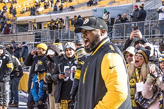 Steelers coach Mike Tomlin - CP PHOTO BY JAKE MYSLIWCZYK