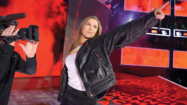 Former MMA star Ronda Rousey made her WWE debut following Sunday's Royal Rumble. - PHOTO COURTESY OF WWE.COM