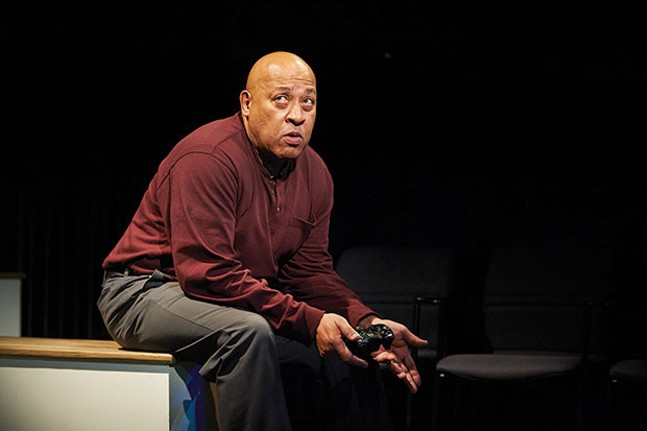 Keith Randolph Smith in The Absolute Brightness of Leonard Pelkey at City Theatre - PHOTO COURTESY OF KRISTI JAN HOOVER