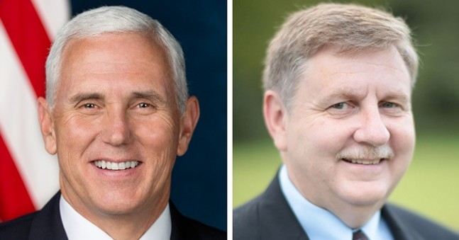 Mike Pence (left) and Rick Saccone (right)