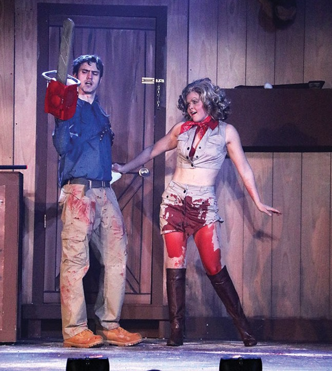 Whitney Noelle and B.A. Goodnack in Evil Dead: The Musical, at Pittsburgh Musical Theater - PHOTO COURTESY OF MELISSA WALLACE