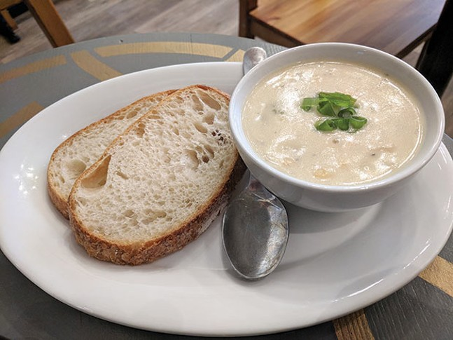 Potato corn chowder - CP PHOTO BY REBECCA ADDISON