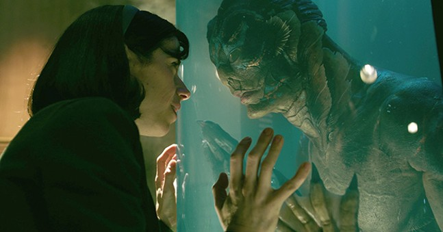In character: Sally Hawkins and Doug Jones in The Shape of Water
